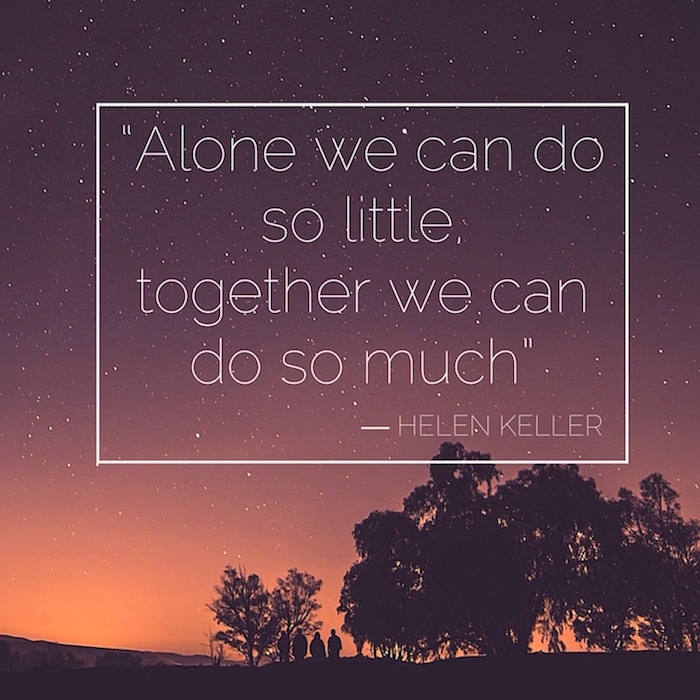 Together we can do so much.
